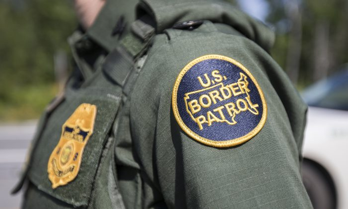 A patch on the uniform of a U.S. Border Patrol agent. (Scott Eisen/Getty Images)