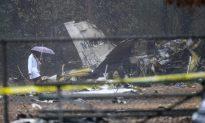 Business Jet Crashes Onto Football Field, Killing 4 Aboard