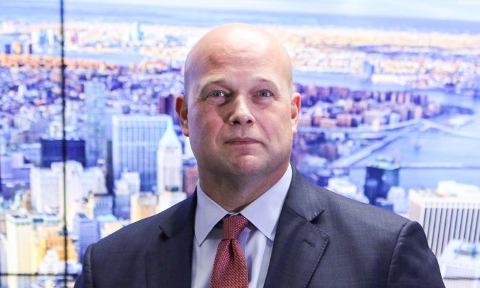 Acting Attorney General Matthew Whitaker gives remarks on national security efforts to the Joint Terrorism Task Force in New York on Nov. 21, 2018. (Samira Bouaou/The Epoch Times)