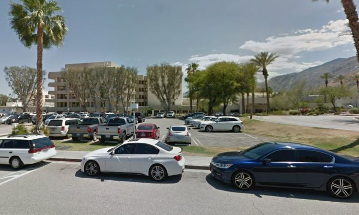 Angela Johnson is hospitalized at the Desert Regional Medical Center in Palm Springs, California, as seen above (Google Street View)