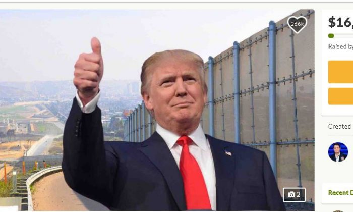 "A GoFundMe page titled, ""We The People Will Fund The Wall,"" has raised $16 million out of the $1 billion required for construction as of Dec. 20, 2018 (GoFundMe)"