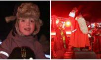 Santa and His Reindeer Begin Their Journey Around the World
