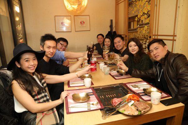 Diners eat traditional korean meal at missKOREA