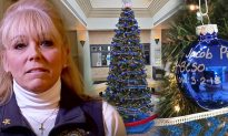 Sheriff's office pays tribute to fallen officers with 142 ornaments on all-blue Xmas tree