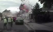 Police Video Shows the Moment Building Suddenly Explodes in Wisconsin