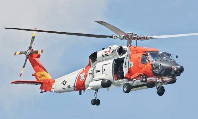 An MH-60 Jayhawk helicopter from the U.S. Coast Guard is seen in a file photo. (Courtesy of the U.S. Coast Guard)