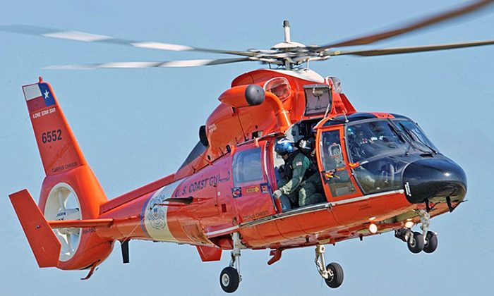 Several HH-65C Dolphin helicopters like this one participated in the rescue search. (PA2 Adam Eggers/U.S. Coast Guard)