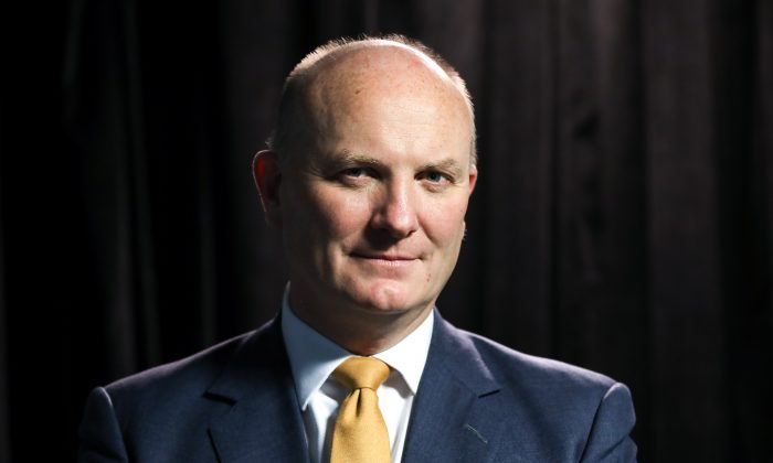 Declan Ganley, Chairman and CEO of Rivada Networks, in Washington on Dec. 18, 2018. (Samira Bouaou/The Epoch Times)