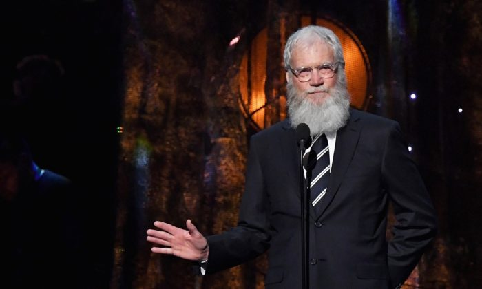 Presenter David Letterman speaks onstage at the 32nd Annual Rock & Roll Hall Of Fame Induction Ceremony at Barclays Center in New York City on April 7, 2017.(Mike Coppola/Getty Images)