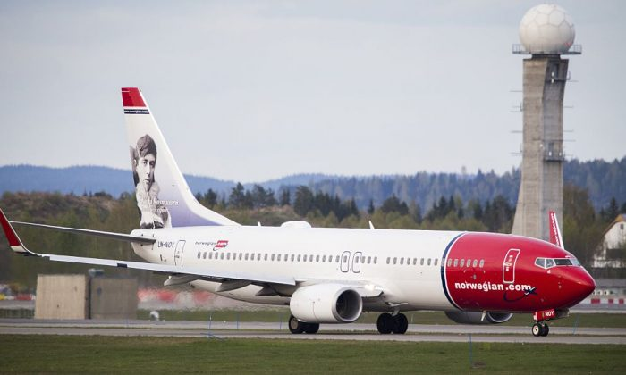 Boeing 737-33S operated by Norwegian Air Shuttle on the tarmac at the Oslo Airport Gardemoen. (AAS, Erlend/AFP/Getty Images)