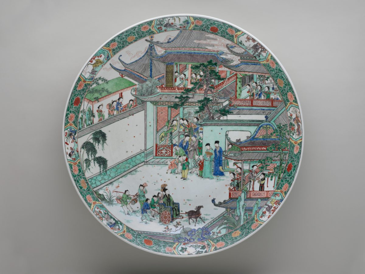Platter with story of Pan An