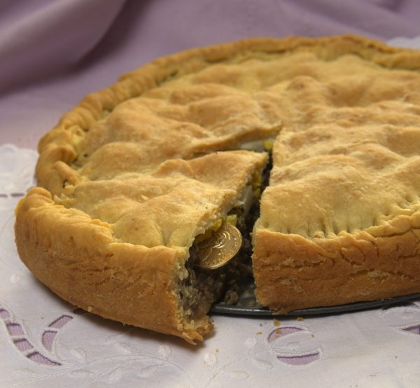 Maria Loi's Vasilopita Politiki - New Year's Meat Pie