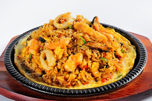 peruvian rice with seafood arroz con mariscos