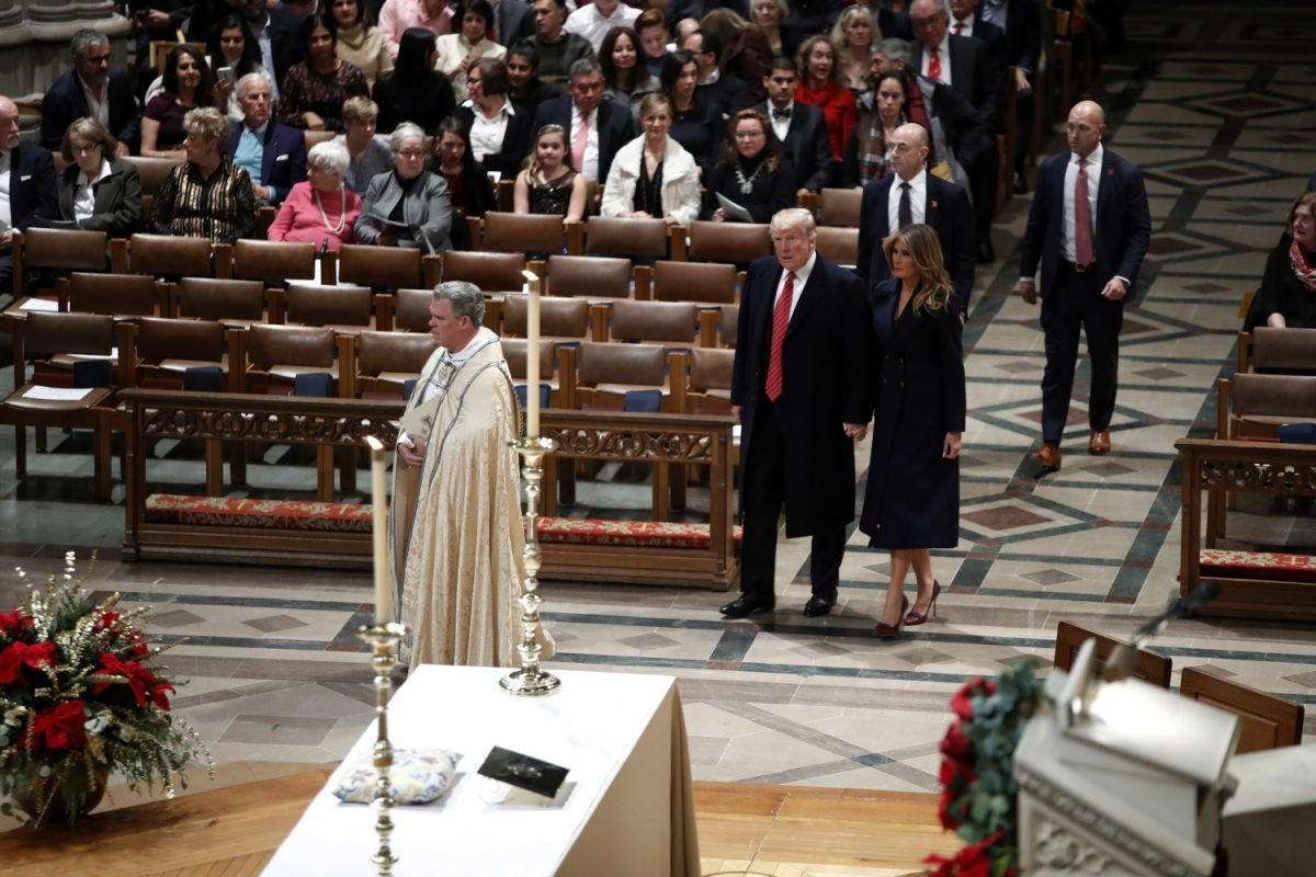 trumps at national cathedral