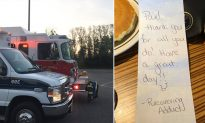 EMTs moved to tears after 'recovering addict' surprises them with an unexpected gesture