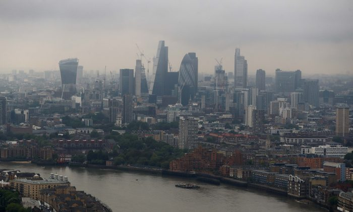 The City of London is seen from Canary Wharf on May 17, 2017. (Reuters/Stefan Wermuth)