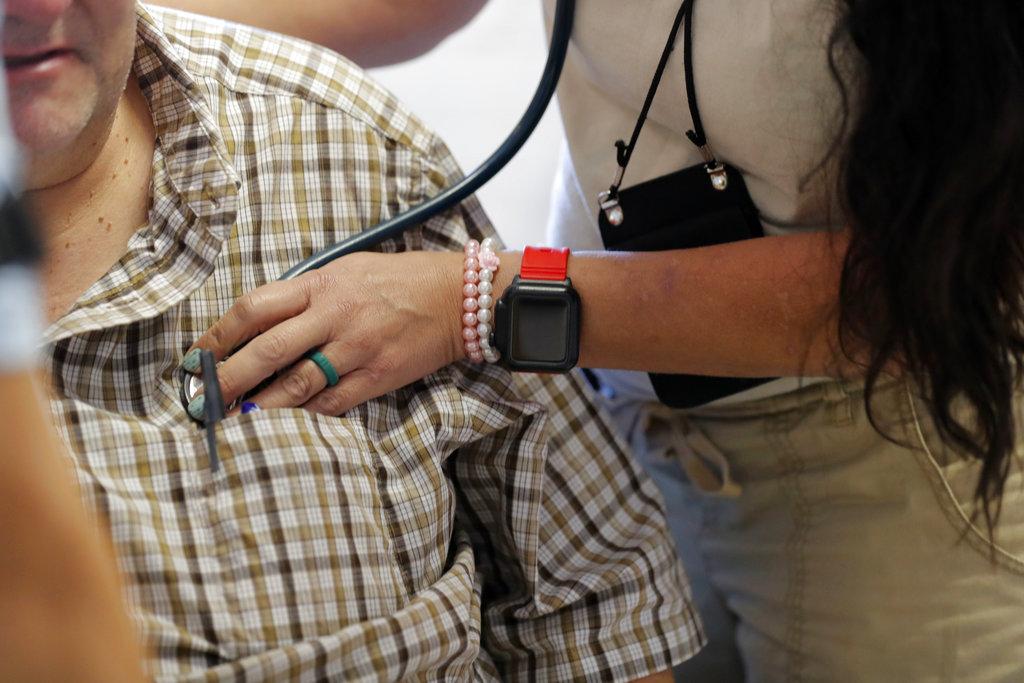 Nurse sees patient