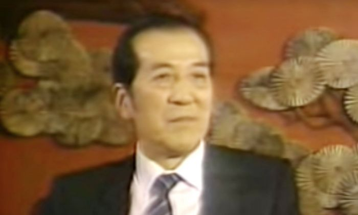 Yuan Mu, the former spokesman of China's State Council, during a media interview about the Tiananmen Square Massacre, on June 17, 1989. (Screenshot via YouTube)