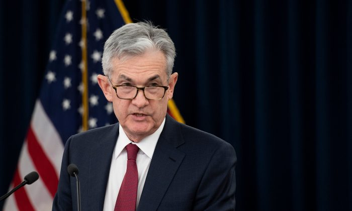 US Federal Reserve Board Chairman Jerome Powell holds a news conference after a Federal Open Market Committee meeting in Washington, DC, Dec.19, 2018.  (JIM WATSON/AFP/Getty Images)