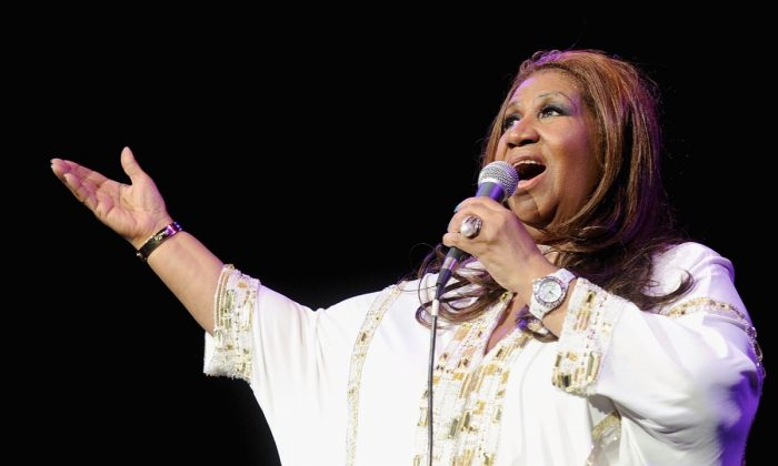 Aretha Franklin performs at Radio City Music Hall in New York City on February 17, 2012. (Jamie McCarthy/Getty Images)