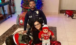 Officer Smiling With Wife and 5-Month-Old Son Hours Before He Was Shot