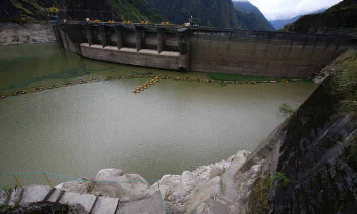 View of the Paute Dam, in Penas Coloradas, Ecuador, on November 10, 2009.( PABLO COZZAGLIO/AFP/GettyImages)