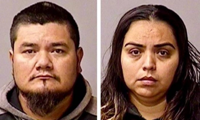 Conrado Virgen Mendoza, 34, and Ana Leyde Cervantes, 30, were arrested on Friday, Dec. 28, 2018, on suspicion of aiding and abetting Gustavo Perez Arriaga, who police say murdered Newman Police Department Cpl. Ronil Singh in Newman, California, on Wednesdsay, Dec. 26, 2018. (Stanislaus County Sheriff's Department)