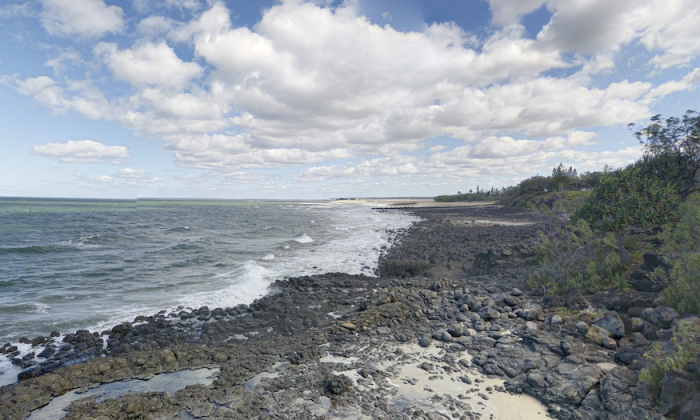 A view along Elliot Heads, in Bundaberg, Queensland, Australia. (Google Maps/Screenshot)