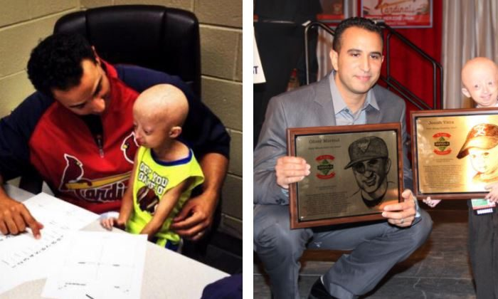 Josiah Viera, 14, who had Hutchinson-Gilford Progeria Syndrome, also known as rapid-aging disease, died on Dec. 24, 2018. (Oliver Marmol/Twitter)