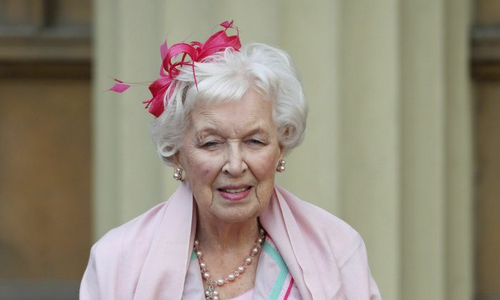 "Dame June Whitfield. British actress and comedic star June Whitfield, whose long career included memorable roles in the TV series ""Absolutely Fabulous"" and ""Terry and June,"" died on the night of Dec. 28, 2018. (Jonathan Brady/PA Wire/AP)"
