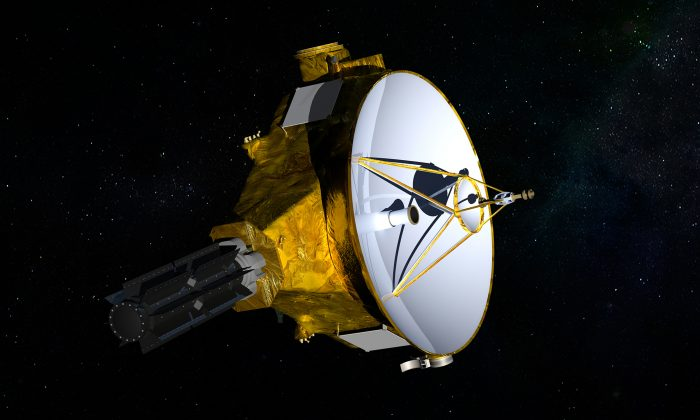 This illustration provided by NASA shows the New Horizons spacecraft. Launched in 2006, it is set to fly past the mysterious object nicknamed Ultima Thule at 12:33 a.m. on Jan. 1, 2019. (NASA/JHUAPL/SwRI via AP)