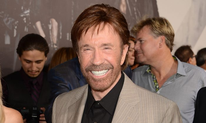 Actor Chuck Norris arrives at Lionsgate Films' 'The Expendables 2' premiere in Hollywood, Calif., on Aug. 15, 2012. (Jason Merritt/Getty Images)