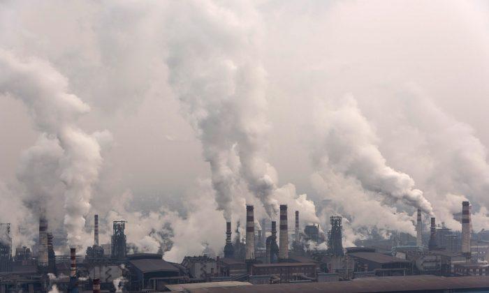 Qian'an steelworks of Shougang Corporationin Tangshan, China, on January 20, 2016. (Xiaolu Chu/Getty Images)