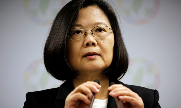 Taiwan President Tsai Ing-wen announces her resignation as chairwoman of the Democratic Progressive Party (DPP) after local elections in Taipei, Taiwan on Nov. 24, 2018. (Ann Wang/Reuters)