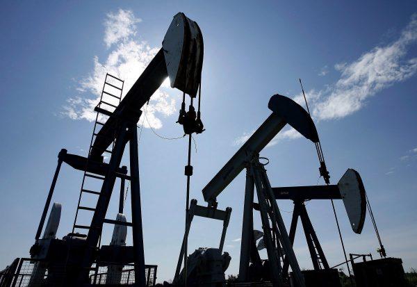 Pumpjacks pump crude oil near Halkirk, AB, in this file photo. (The Canadian Press/Larry MacDougal)
