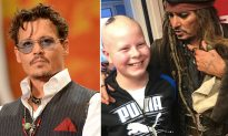 Superstar Johnny Depp surprises young cancer patients at hospital as Jack Sparrow
