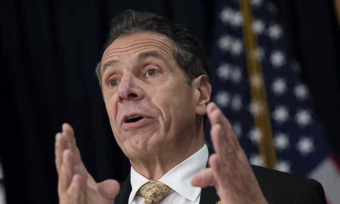 New York Gov. Andrew Cuomo speaks during a press conference on Nov. 13, 2018. (Drew Angerer/Getty Images)