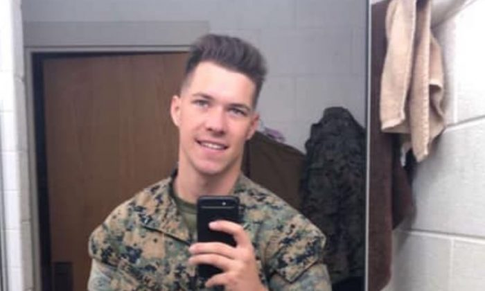 Riley Kuznia, in an undated file photo, was identified by his mother as the Marine who died at a Washington barracks on Jan. 1, 2019. (Markelle Kuznia/Facebook)