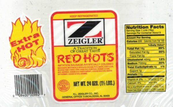 zeigler sausage recalled