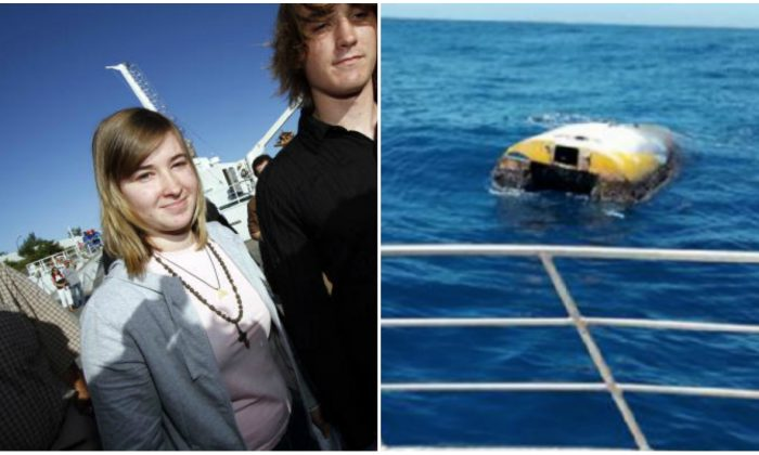 "(L): American teenager Abby Sunderland (L) who was rescued by fishermen from her stricken yacht in the Indian Ocean, and her brother Zac (R) leave Saint-Denis de la Reunion's harbour following Abby's arrival on the French island of Reunion on June 26, 2010. (Richard Bouhet/AFP/Getty Images) (R): ""Wild Eyes"" sailing boat abandoned almost a decade ago found near the Kangaroo Islands (South Australia Police)"