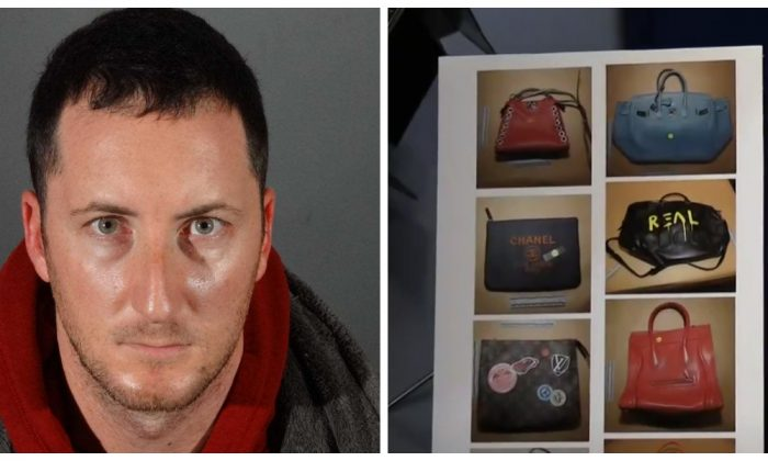 Benjamin Eitan Ackerman was arrested in connection with a series of celebrity and high-end home burglaries, announced the LAPD at a press conference on Jan. 2, 2018. (LAPD/Screenshot)