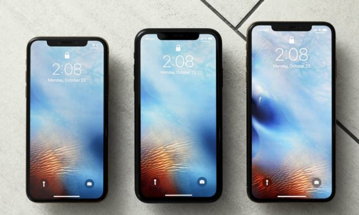 File photo shows the iPhone XS, from left, iPhone XR, and the iPhone XS Max in New York on Oct. 22, 2018.  (AP Photo/Richard Drew, File)