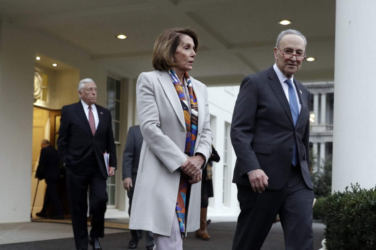 schumer and pelosi walk out of white house