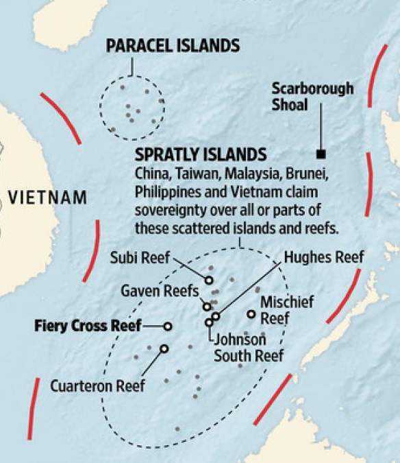 South China Sea artificial islands.