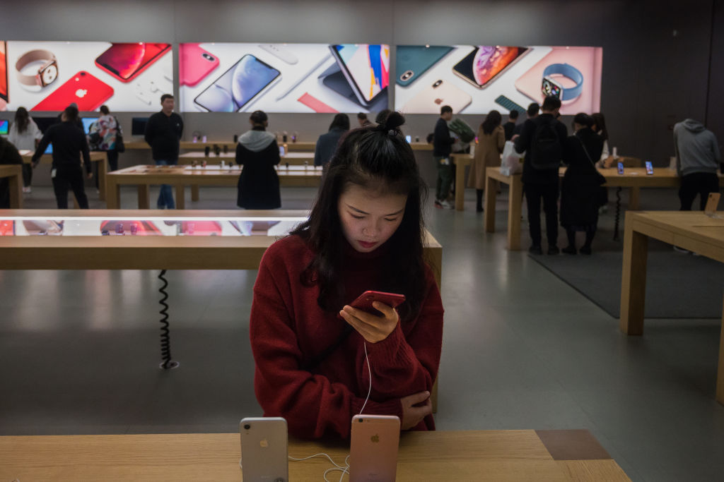 Apple Inc. store in Shenzhen, China