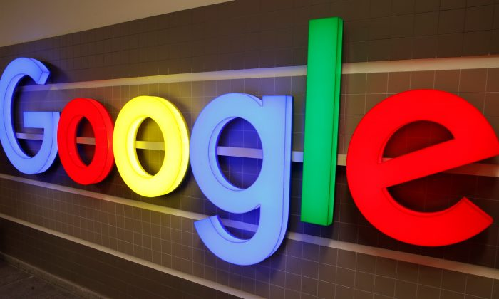 An illuminated Google logo is seen inside an office building in Zurich, Switzerland Dec. 5, 2018. (Arnd Wiegmann/Reuters)