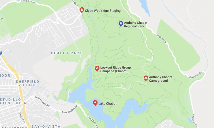 Anthony Chabot Regional Park. (Screenshot/Google Maps)