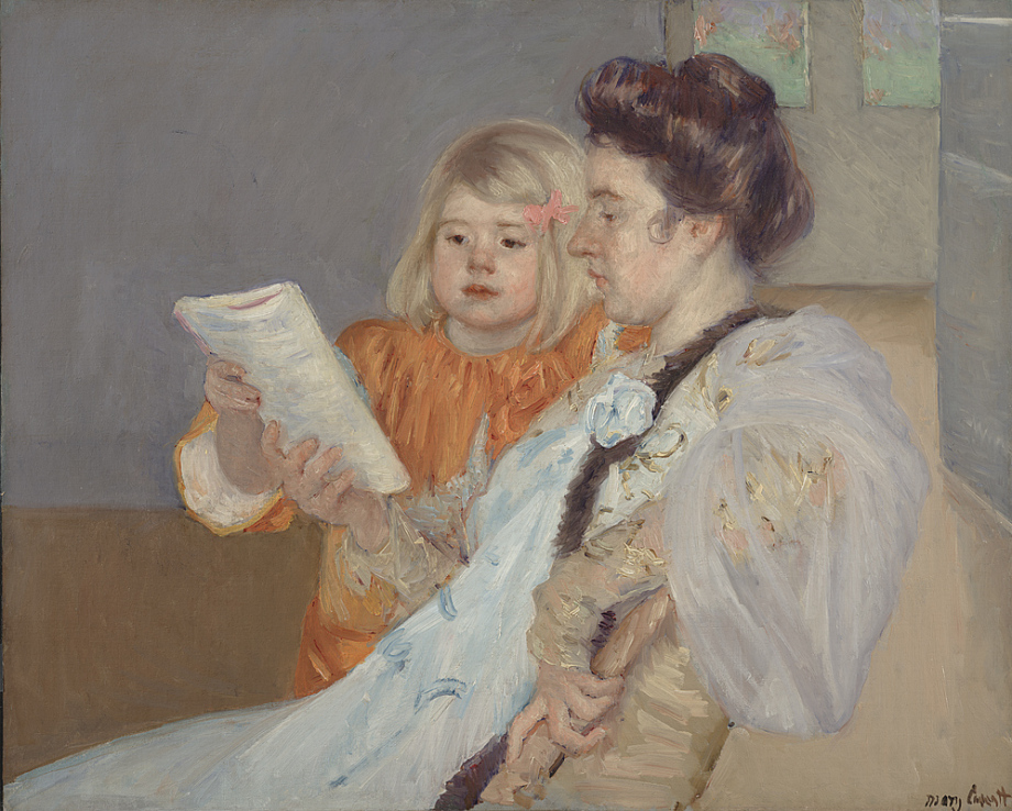 The Reading Lesson by Mary Cassatt
