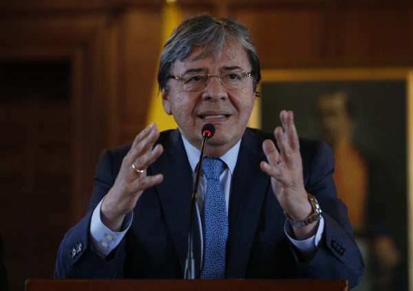 Colombian Foreign Minister Carlos Holmes in a file photo. (John Vizcaino/AFP/Getty Images)