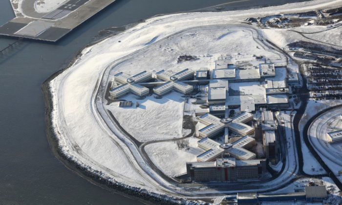Rikers Island jail complex in the Bronx borough of New York City, on Jan. 5, 2018. (John Moore/Getty Images)